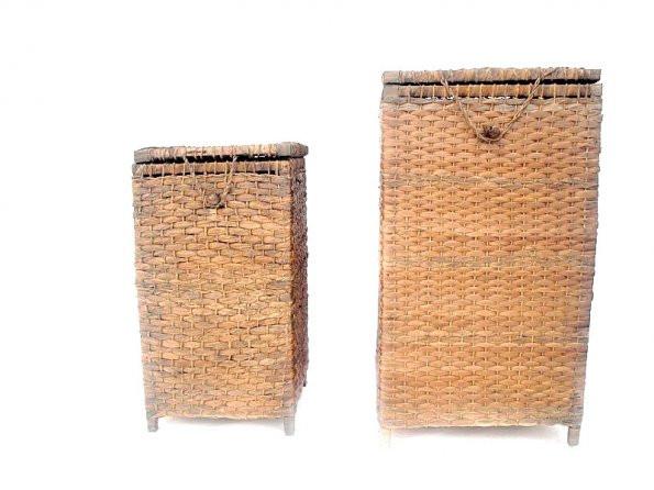 Roupeiro de palha tecido envelhecido