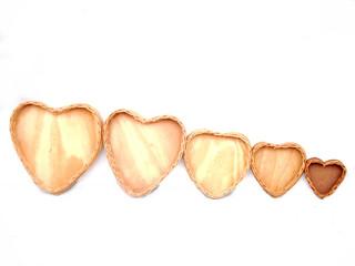 Bandejas corações cipó