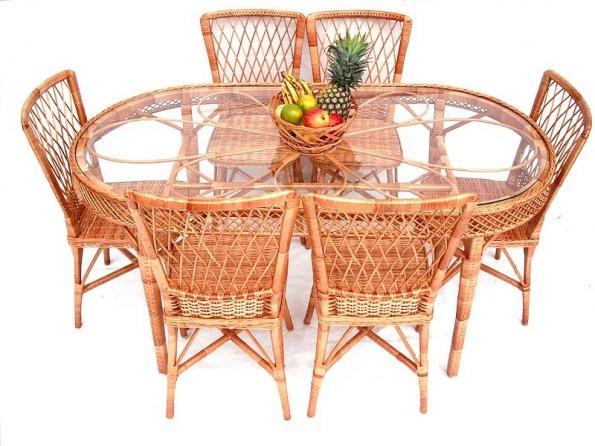 Mesa de copa margarida oval
