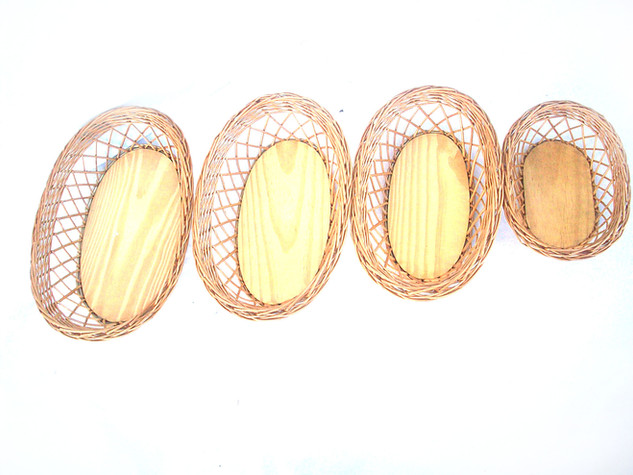 Bandeja oval xadrez