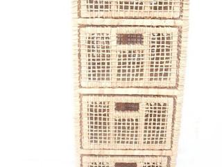 Gaveteiro 4 gavetas de palha