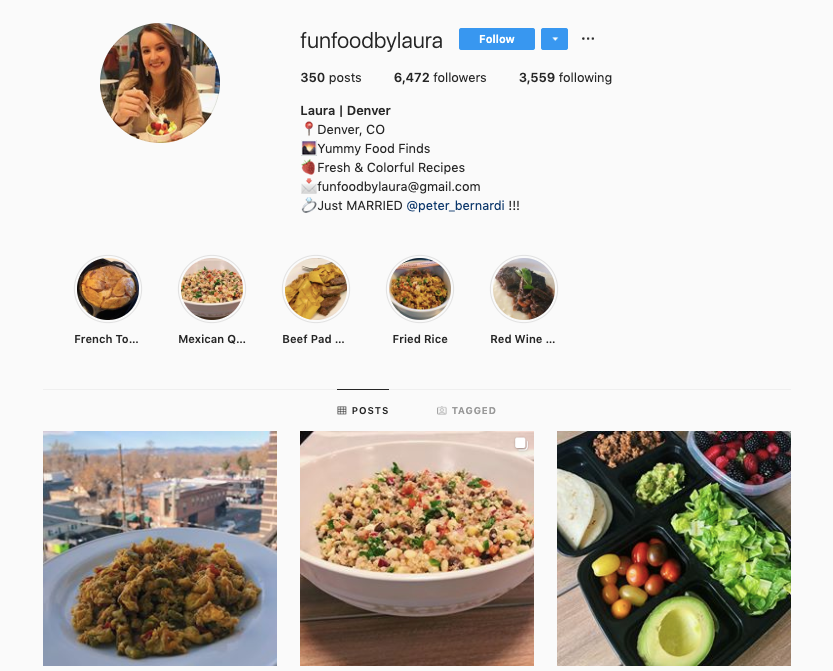 FUN FOOD BY LAURA instagram