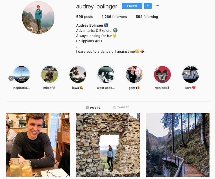 AUDREY BOLINGER instagram