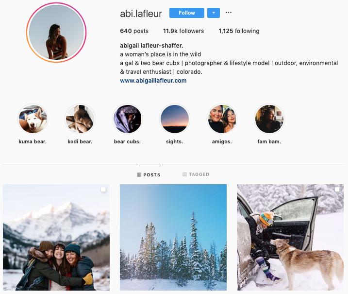 ABIGAIL LAFLEUR-SHAFFER instagram