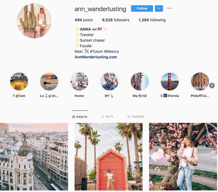 ANNA WANDERLUSING instagram