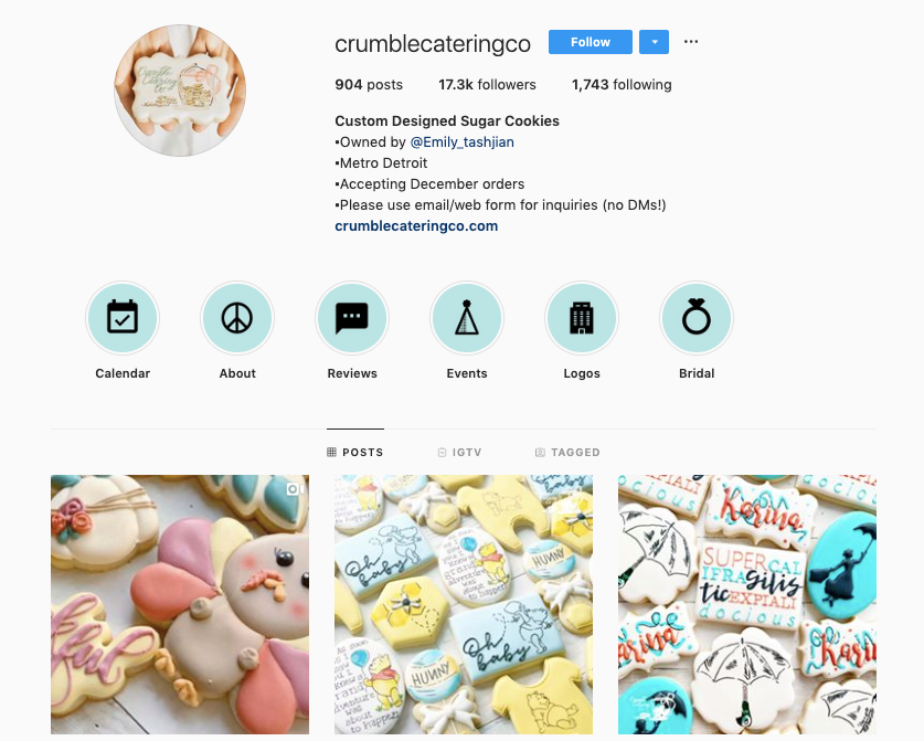 CUSTOM DESIGNED SUGAR COOKIES instagram