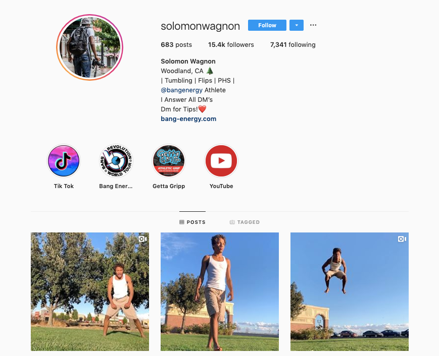 SOLOMON WAGNON instagram