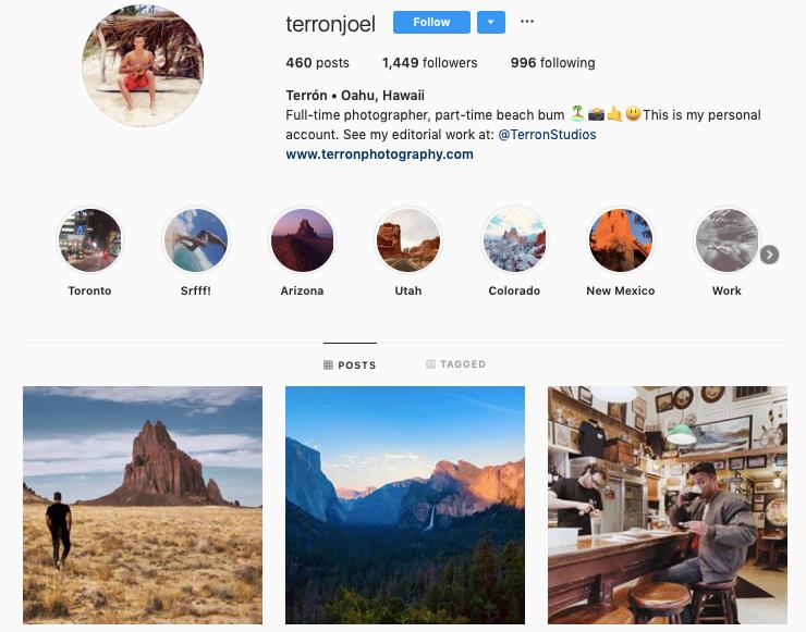 JOEL TERRON instagram