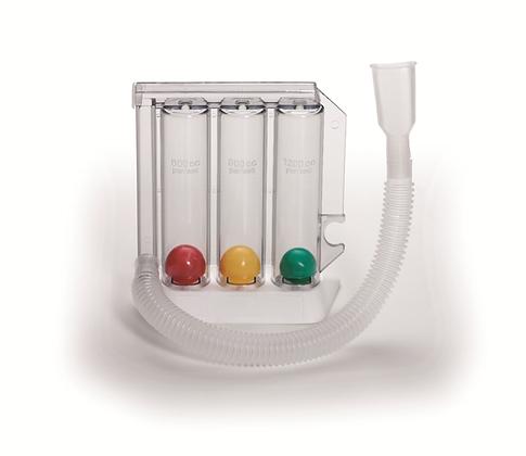 Respirometer - Atemtrainer, Atemmuskeltrainer,  Trainieren der Atemwegsmuskulatur, Atemwegs