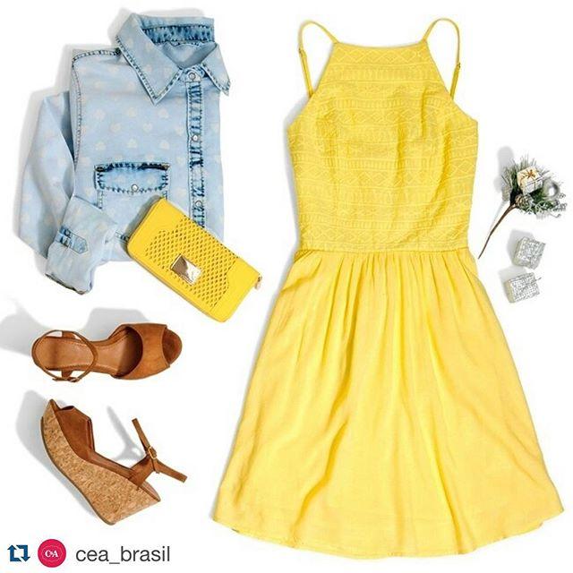 #Repost _cea_brasil with _repostapp._・・・_Nada mais prático e fresquinho do que um vestidinho para os