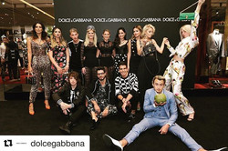 #Repost _dolcegabbana with _repostapp_・・・_Group shot of the #DGMillennials at #DGNewVision boutique