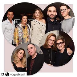 #Repost _voguebrasil with _repostapp_・・・__johannasteinbirman e _alexandrebirman recebem convidados h