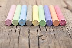 Farverige kridt