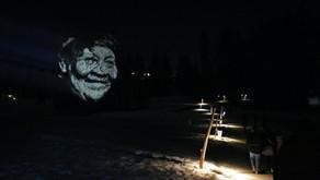 Os rostos dos Paiter Suruí na trilha das lanternas (Crans-Montana)