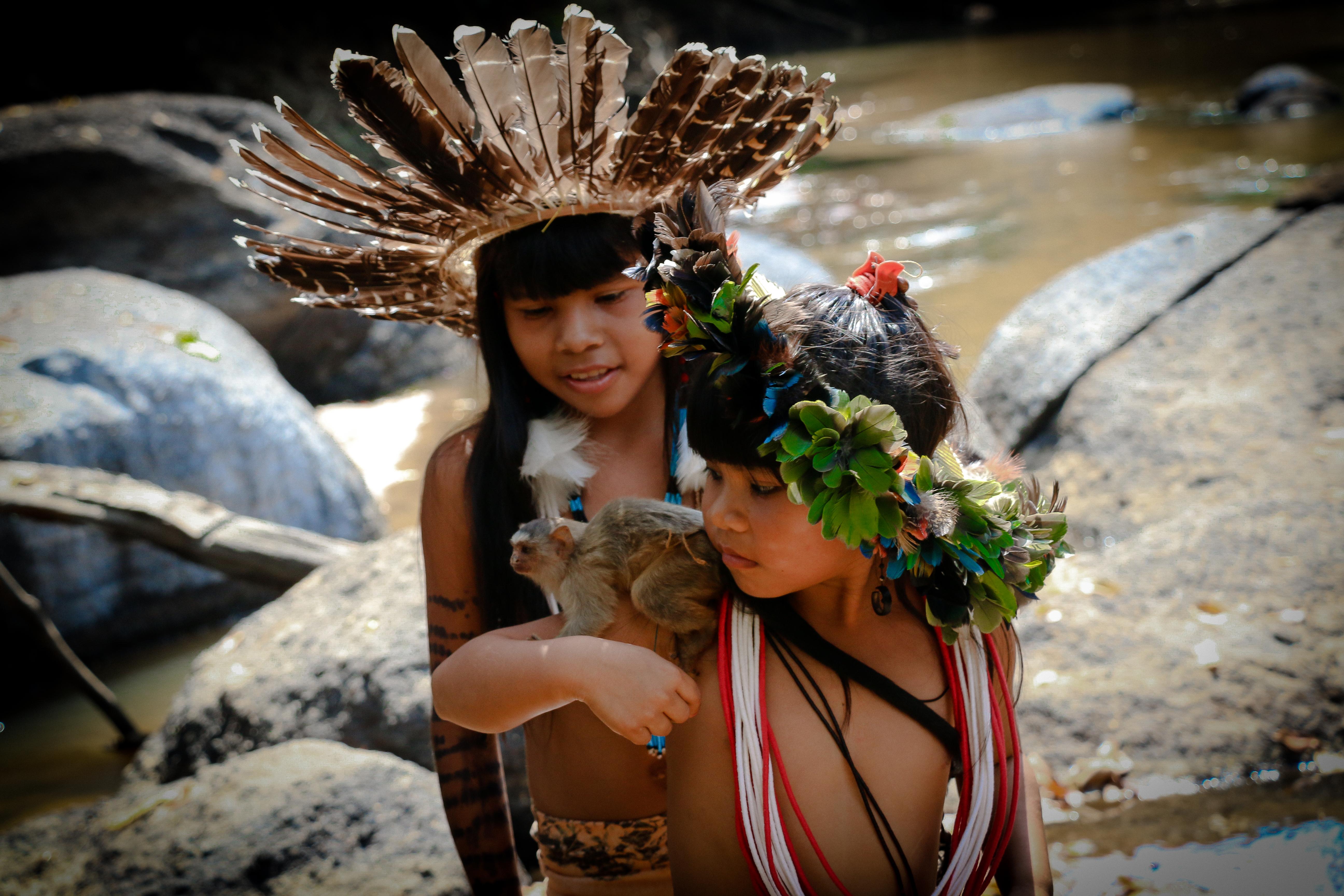 crianças indigenas