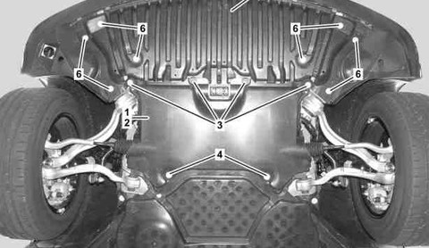 Bottom engine compartment paneling