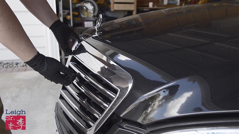 Engine hood outside secure lever 机舱盖外保险开关