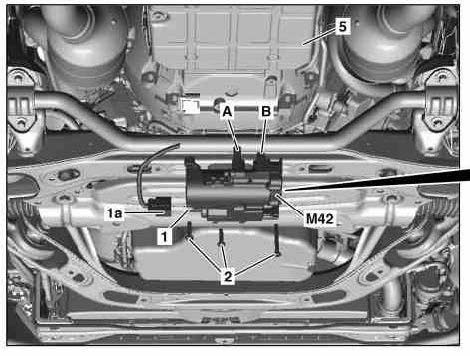 The position of auxiliary oil pump
