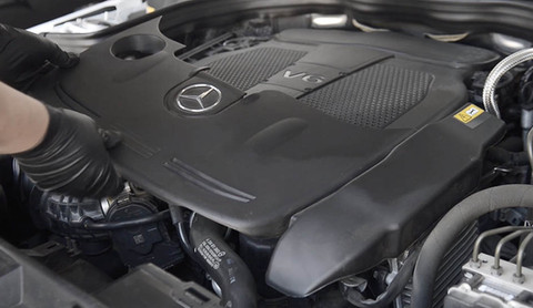Remove the front of engine cover
