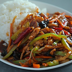 Shredded Lean Pork on Rice