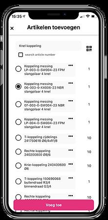 Artikel toevoegen BarTrck app