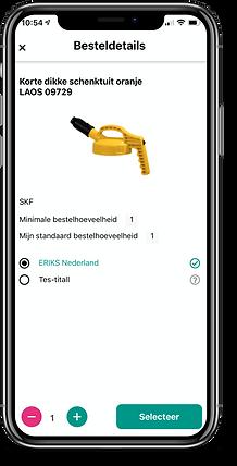 Bestelinformatie BarTrack app
