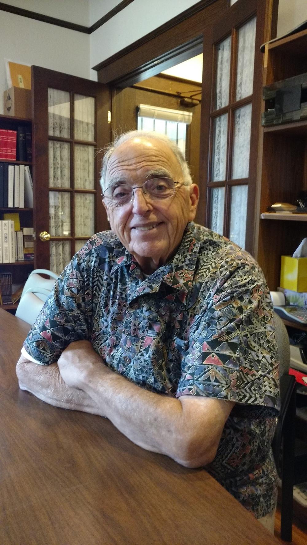 Waldemar Perez at his home.