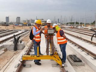 הדרכה על מערכת מדידה מבית Amberg בפרוייקט הרכבת הקלה