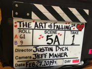 The traditional clapboard!