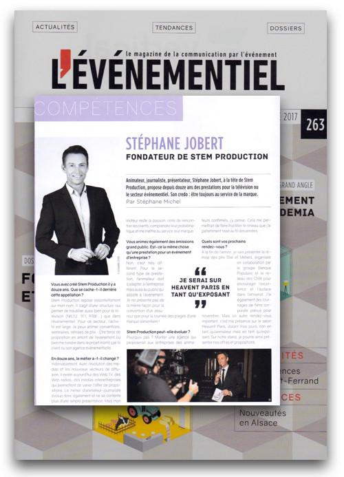 L'événementiel magazine Stephane Jobert