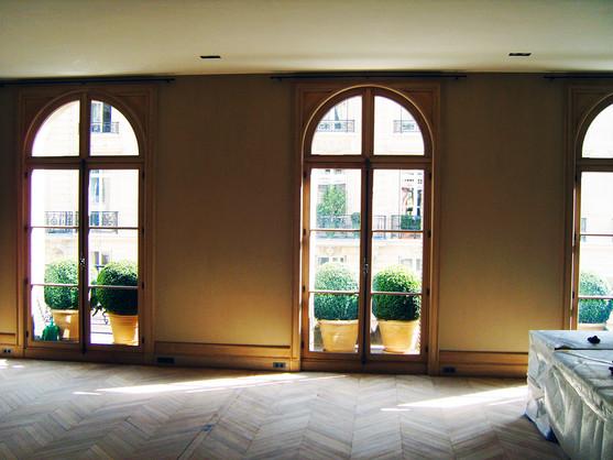 Fenêtre bois sur mesure avec imposte cintré