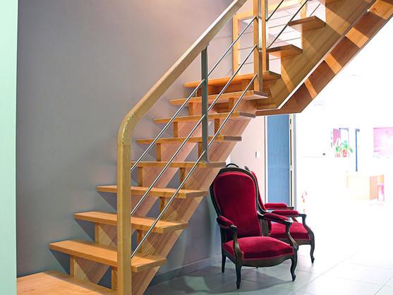 Escalier quart tournant à palier