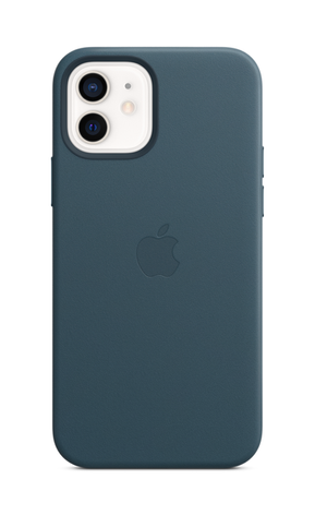 iPhone 12 Leather Case with MagSafe - Baltic Blue