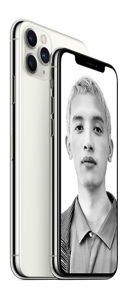 iPhone 11 Pro and Pro Max 2Up white guy.