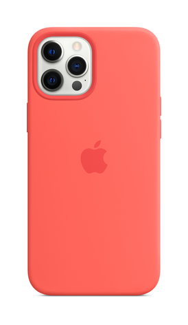 iPhone 12 Pro Silicone Case with Magsafe - Pink Citrus