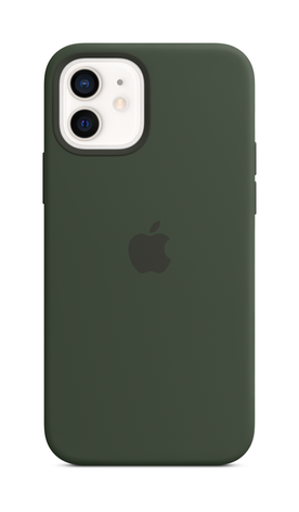 iPhone 12 Silicone Case with Magsafe - Cyprus Green