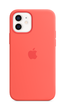 iPhone 12 Silicone Case with Magsafe - Pink Citrus