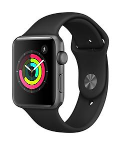 Apple Watch S3 42mm Space Gray Black 34R