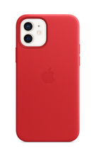 iPhone 12 Leather Case with MagSafe - Red