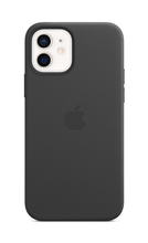 iPhone 12 Leather Case with MagSafe - Black