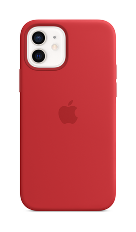 iPhone 12 Silicone Case with Magsafe - Red