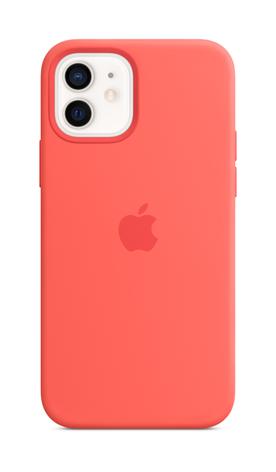 iPhone 12 mini Silicone Case with Magsafe - Pink Citrus