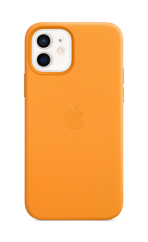 iPhone 12 Leather Case with MagSafe - California Poppy