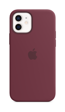 iPhone 12 Silicone Case with Magsafe - Plum