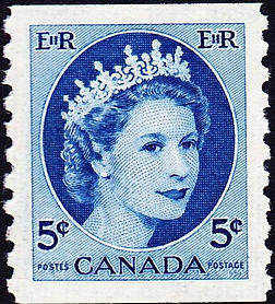 1954-queen-elizabeth-ii-5-cents-stamp-ca