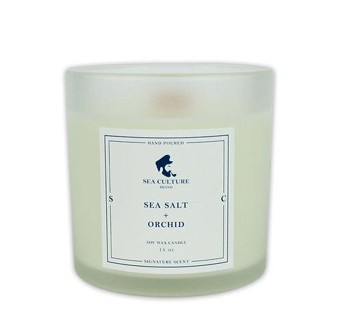 Sea Salt + Orchid 18 oz Candle