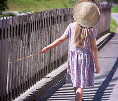 Back of Girl with Hat and Dress