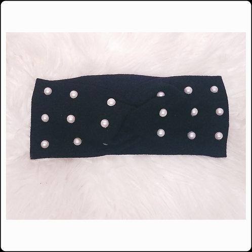 Black Pearl Twist Headband
