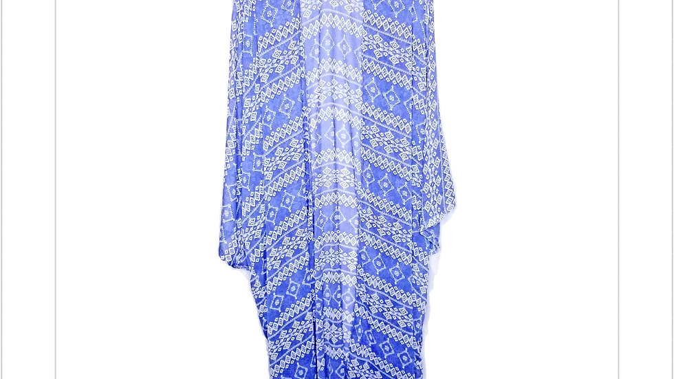 Blue Tribal Maxi Coverall