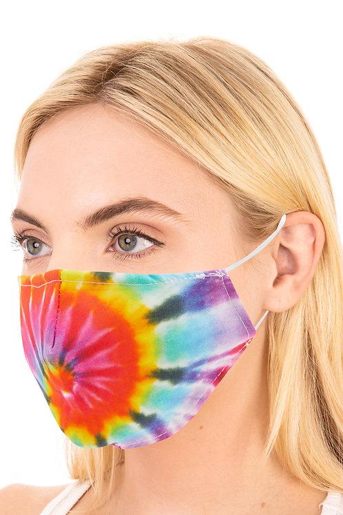 Adjustable Tie Dye Adult Face Mask